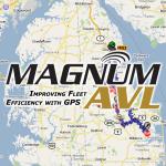 Magnum AVL Logo Map