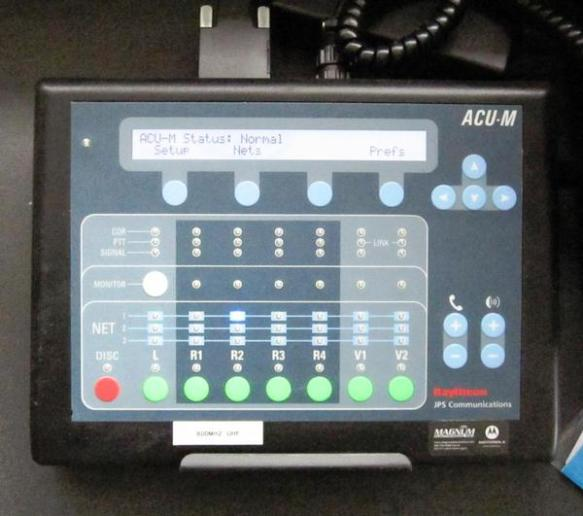 ACU-M Control Panel and Indicator Lights