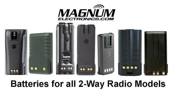 Magnum Electronics Supplies Batteries for All 2-Way Radio Models