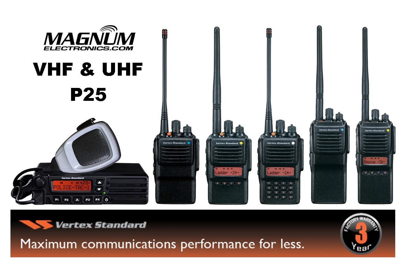 Lower Cost VHF or UHF 2-Way P25 Radios with AES Encryption