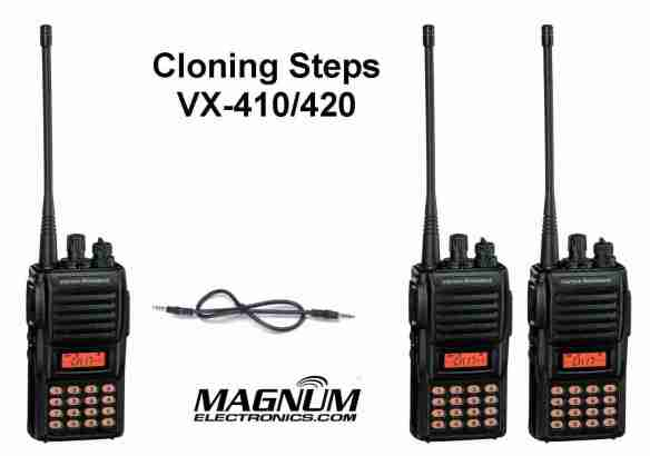 Vertex VX-420 Radio with Cloning Cable
