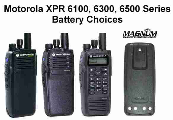 MOTOTRBO Radio Battery Choices