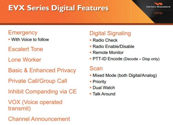 Vertex EVX DMR Digital Features