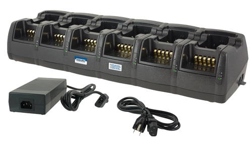 12 Slot Battery Charger with replaceable dual pods