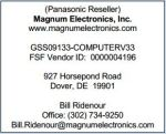 Delaware WSCA Panasonic Info