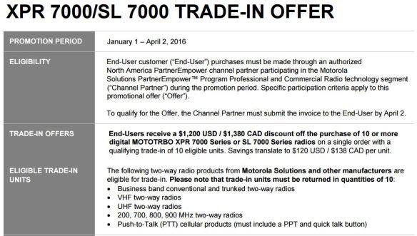 2016 XPR SL 7000 Trade-in Promo
