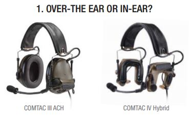 how to choose a 3m peltor comtac tactical headset for military andover the ear or earplug
