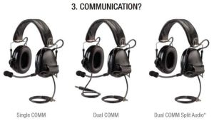 Single, Dual, or Split Audio Communications