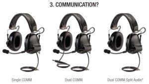 Single, Dual, or Split Audio Communications