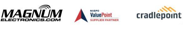 Magnum Electronics - NASPO- Cradlepoint Logos